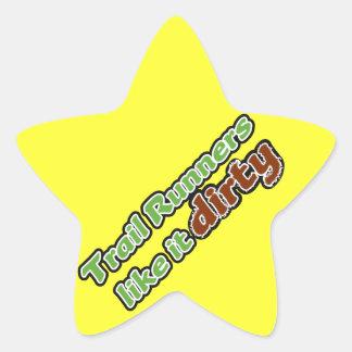 Trail Runners Like it Dirty Star Sticker