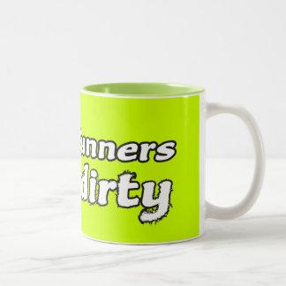 Trail Runners Like it Dirty Two-Tone Coffee Mug