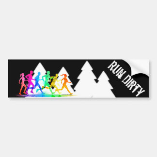 Trail Running - Run Dirty Bumper Sticker