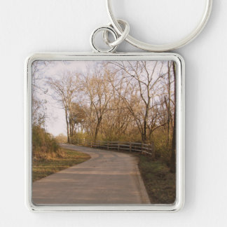 Trail though the Woods Keychain