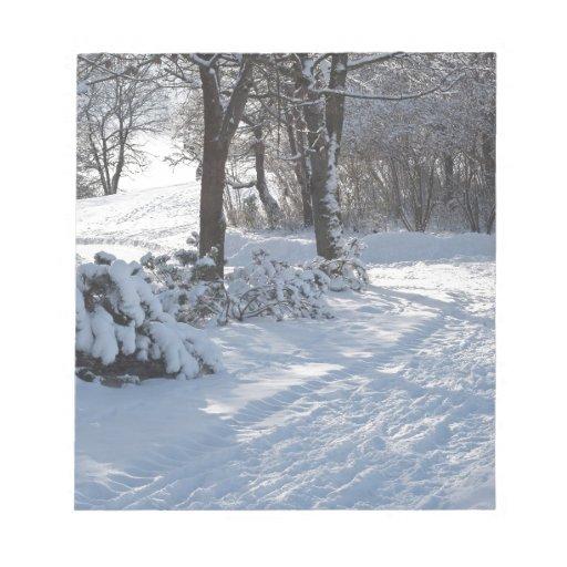 Trail Through Winter  Scenery Memo Pad