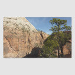 Trail to Angels Landing in Zion National Park Rectangular Sticker