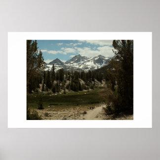Trail to Morgan Pass. High Sierra Poster
