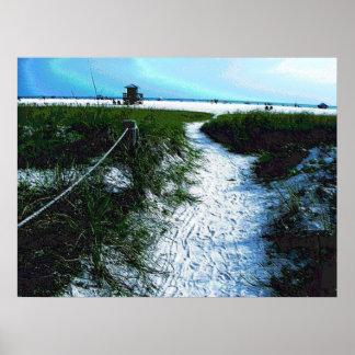 Trail to Stunning Siesta Keys Beach Poster