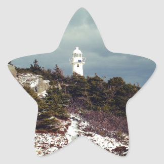 Trail to the Lighthouse Star Sticker