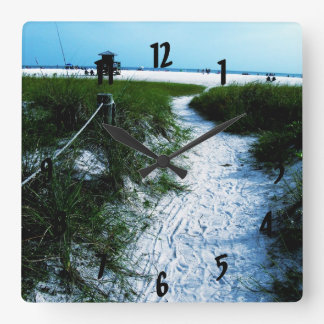 Trail To The Sea Wall Clock