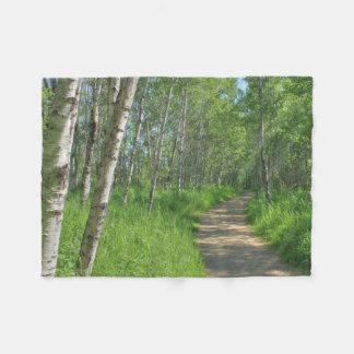 Trail Trough Aspens Fleece Blanket