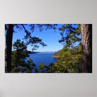 Trail View Winter Lake Ouachita Arkansas Poster