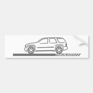 Trailblazer Grey Truck Bumper Sticker
