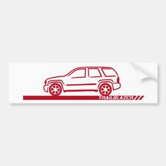 Trailblazer Maroon Truck Bumper Sticker