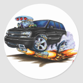 Trailblazer SS Black Truck Classic Round Sticker