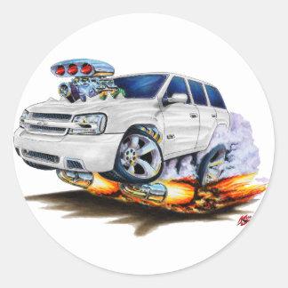 Trailblazer SS White Truck Classic Round Sticker