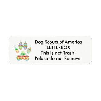 TrailDog Letterbox Label