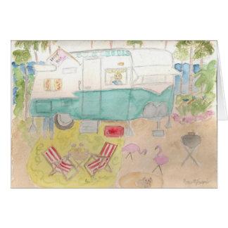 Trailer Art - Shasta Beach Camp Stationery Note Card