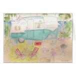 Trailer Art - Shasta Beach Camp Greeting Card