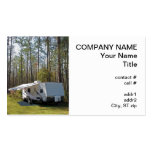 trailer camping Double-Sided standard business cards (Pack of 100)
