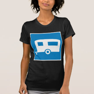 Trailer Camping Highway Sign T Shirt