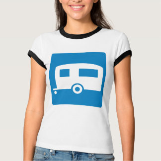 Trailer Camping Highway Sign T-Shirt