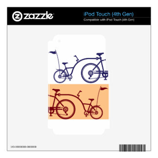 Trailer cycle. Bicycle attachment. Co-pilot iPod Touch 4G Skin