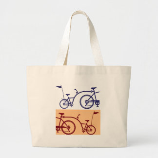 Trailer cycle. Bicycle attachment. Co-pilot Large Tote Bag