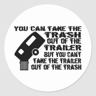 Trailer From Trash Classic Round Sticker