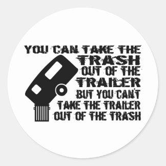 Trailer From Trash Classic Round Sticker