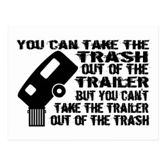 Trailer From Trash Postcard