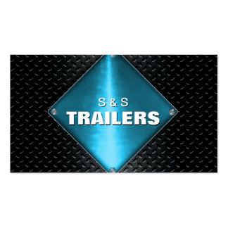 Trailer Manufacturing Metal Business Card - Blue