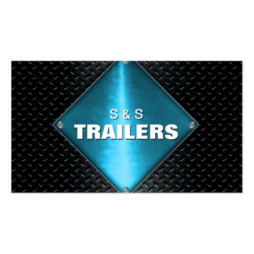 Trailer Manufacturing Metal Business Card - Blue