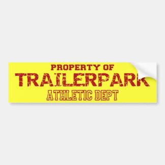 Trailer Park Athletic Dept Design Bumper Sticker
