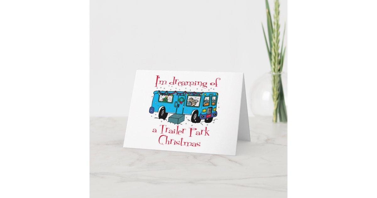 Trailer Park Christmas Holiday Card | Zazzle.com