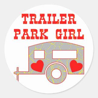 Trailer Park Girl Classic Round Sticker