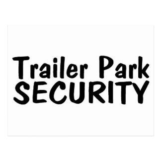 Trailer Park Security Postcard