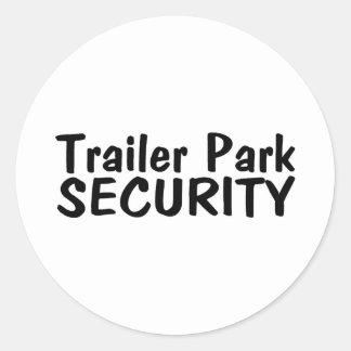 Trailer Park Security Classic Round Sticker