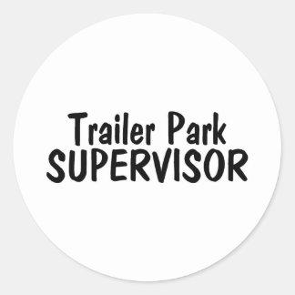 Trailer Park Supervisor Classic Round Sticker