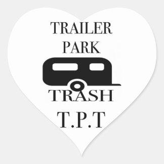 Trailer Park Trash Heart Sticker