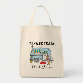 trailer park trash with class grocery tote bag