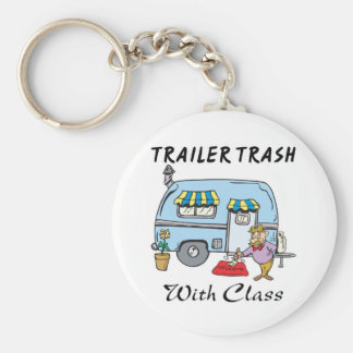 trailer park trash with class keychain
