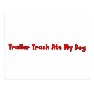 Trailer Trash Ate My Dog Postcard