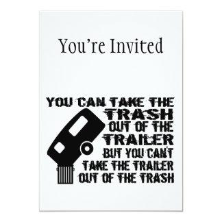 Trailer Trash Custom Invites