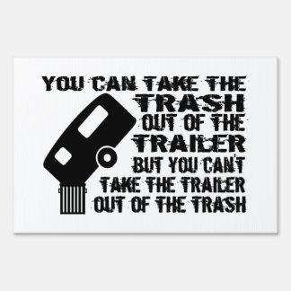 Trailer Trash Lawn Sign