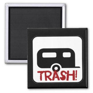 Trailer Trash 2 Inch Square Magnet
