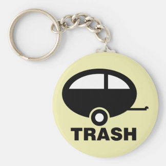 Trailer Trash ~ RV Travel Camping Basic Round Button Keychain