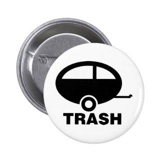 Trailer Trash ~ RV Travel Camping Pinback Buttons