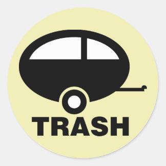 Trailer Trash ~ RV Travel Camping Classic Round Sticker