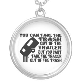 Trailer Trash Silver Plated Necklace