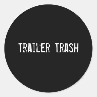 Trailer Trash Classic Round Sticker