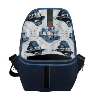 Trailer Trash Toile Messenger Bag