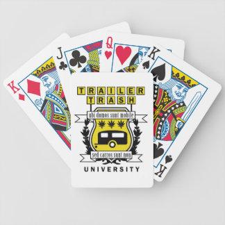 TRAILER TRASH UNIVERSITY BICYCLE PLAYING CARDS