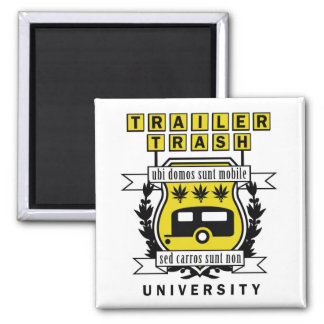 TRAILER TRASH UNIVERSITY FRIDGE MAGNETS